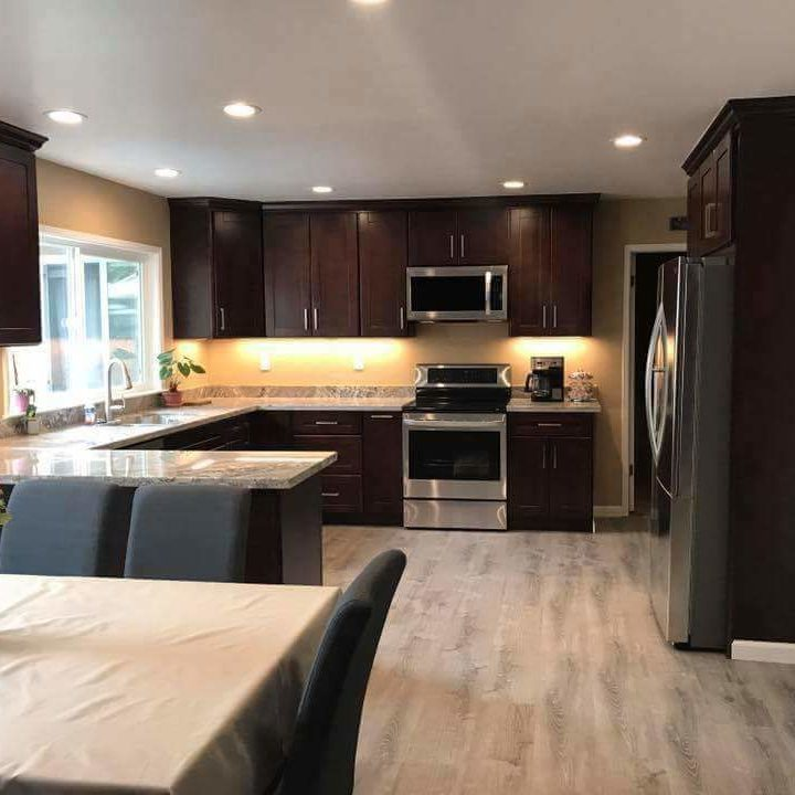 Complete kitchen Remodel done by construction company Rise Builders